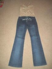Tap Dance Pageant National Competition Costume Gold Denim Jrs 0 2 AS Adult Small
