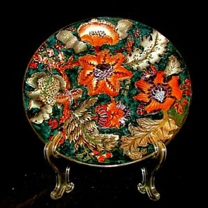 "EXQUISITE ORIENTAL DECORATIVE 10.5"" PLATE-SUPERB COLORS - PERFECTION!"