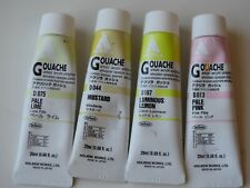 Lot of 4 Acryla Gouache  Colors - 20ml - Pinks and Yellows