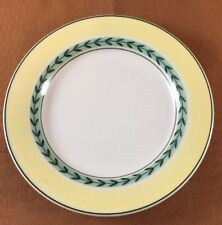 """Villeroy and Boch Easy 6 1/4"""" Bread and Butter Plate Laurel Verge Green Band"""