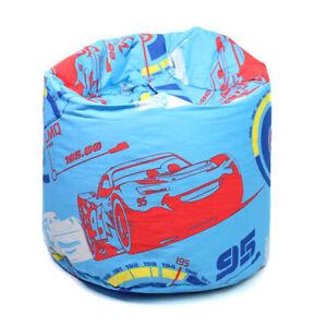Kids Disney Cars Bean Bag Blue Lightning McQueen Children Boys Girls Seat Chair