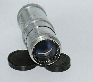 Lens  Zeiss Jena Heavy Chrom  Triotar 4/135mm Red T for Exakta  Mint