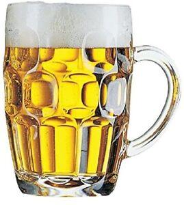 Traditional Pub Beer Tankard ARC Britannia Haworth Glass, Beer Stein, Beer Mug