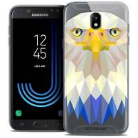 "Coque Housse Etui Pour Samsung Galaxy J7 2017 J730 (5.5"") Polygon Animal Souple"