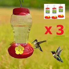 New Listing(3) Quality Hummingbird Feeders Garden Collection - Great Nectar Recipe Included