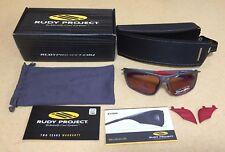 rudy project zyon graphite velvet polar 3FX racing red lens Sunglass New