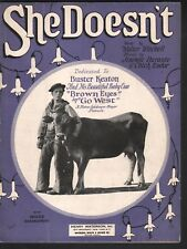 She Doesn't 1925 Buster Keaton GO WEST Sheet Music