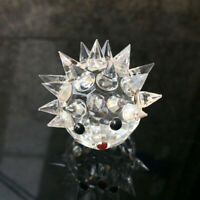 Artificial Glass Crystal Hedgehogs Figurines Paperweight Crafts Art&Collection-