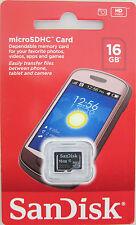 SanDisk 16GB microSDHC Memory Cards Class 4 Samsung BRISBANE
