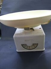 Vintage Kitchen Scale LBS Aluminium Cream Colour INKA Made in Switzerland 30's