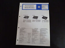 Schaltbild  Service Informationen Telefunken M 201 MC 200 MC 210