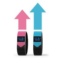 B49C Wasserdicht OLED Tracking Fitness Armband Uhr Herzrfrequenz Blutdruckmesser