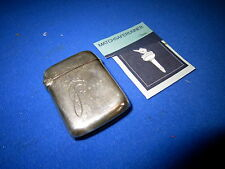 BIRMINGHAM 1898 'JILL' SILVER MATCH HOLDER VESTA CASE MATCH SAFE STRIKER