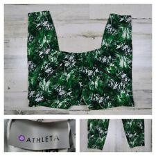 Athleta Women's Size 2 Aspire Ankle Pant Palm Print Green Joggers Travel Pants