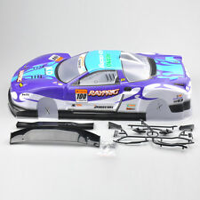 190mm Body Shell For 1/10 RC On Road Drift Car W/Spoilers Blue #01 Top Sales