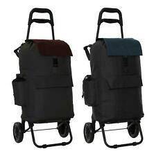 Fully Insulated Shopping Trolley Grocery Luggage Carrier Cart Bag with 2 Wheels