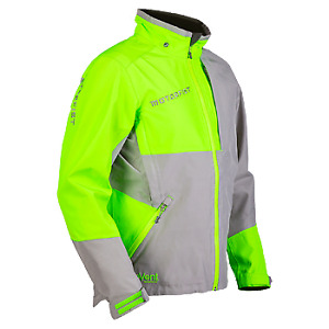 Motorfist Men's Freeride Jacket Uninsulated Waterproof - Blue Orange Green Gray