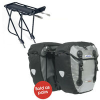 Azur Pannier Rear Rack  & Panniers Bike Bicycle Bags Set Waterproof