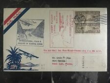 1929 San Juan PR  First Flight Cover FFC To Panama Via Miami Flown Lindbergh
