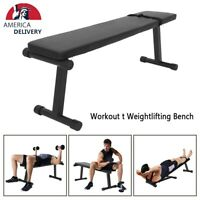 Flat Weight Utility Bench heavy duty Workout dumbbell Lifting Gym 500LBS