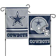 """Dallas Cowboys Polyester 12""""X18"""" 2 SIDED Garden Yard Wall Flag NFL Hologram NWT"""
