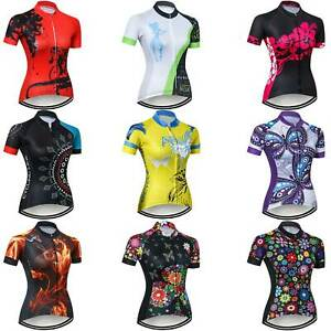 Ladies Short Sleeve Cycle Jersey Reflective Women's Cycling Clothes Jersey Shirt