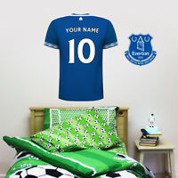 Everton FC Shirt PERSONALISED NAME & NUMBER Football Wall Sticker Bedroom Mural