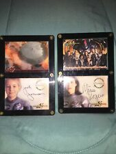 Lost In Space Movie 2 Autographed Cards In Holders