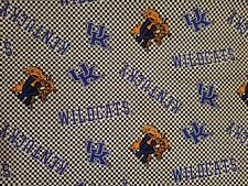 Fabric for Sewing Crafts Quilting Mask SCRAP UK KENTUCKY WILDCATS  9x20 Cotton