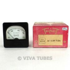 Nos Nib Vintage Triplett Square Model 337 S Ac Volt Panel Meter 0 300 Vac Range