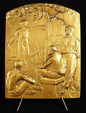 Médaille refrappe à Louis Blériot traverséee de la Manche 1909 10 cm 334 g medal