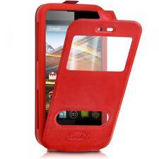 Etui Coque Silicone S-View Couleur rouge Universel XL pour Lenovo S860
