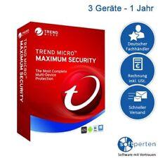 Trend Micro Maximum Security 2018, 3 Geräte - 1 Jahr, ESD, Download,  Deutsch