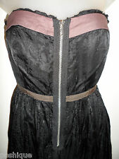 Free People 4 Dress Black Purple Empire Waist Cocktail Party Fall Holiday CHIC