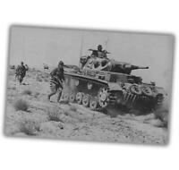 "War Photo PZ Tank.Kpfw.III in Alalamain desert WW2 Glossy Size ""4 x 6"" inch R"