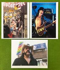 LOT: 3 RARE LEMMY KILMISTER / MOTORHEAD 8x10 COLOR PHOTO REPRINTS~RAINBOW~PHIL 2