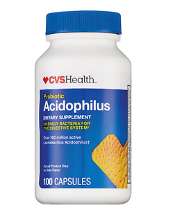 CVS Health Probiotic Acidophilus Capsules 100CT