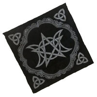 1pc Altar Tarot Table Cloth Moon Pentagram Divination Tapestry 49cm Square