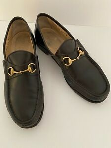 Vintage Gucci Horsebit Loafers Shoes Brown Leather Men's 10.5 B Italy 110 0009