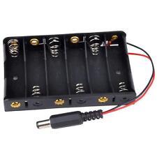 6 x AA Akku Case Battery Fall Storage Holder Mit DC 2.1 Power Jack For Arduino