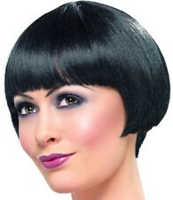 20s 20's 1920s Ladies Flapper Bob Fancy Dress Wig Black New by Smiffys