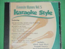 Favorite Hymns #5 ~ Christian ~ Daywind ~ Karaoke Style ~ CD+G ~ USED