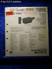 Sony Service Manual CCD tr370e/tr380e/tr380eu (#3547)