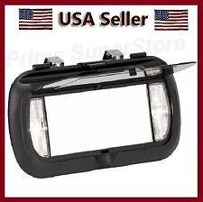New LED Lighted Black Clip On Sun Visor/Vanity Mirror Car/Automobile Light Cover
