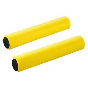 SupaCaz Siliconez XL Foam Handlebar Grips & End Plugs - Lightweight XC - Yellow