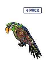 Parrot Bird Colored Drawing Animal Sticker Vinyl Decal 1-442