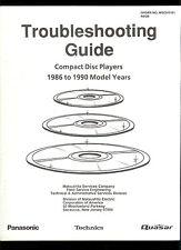 Rare Factory Panasonic Technics Quasar CD Player Troubleshooting Guide 1986-1990