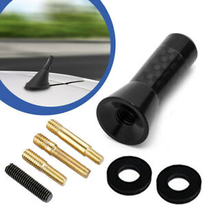 "1.3""/3.5cm Universal Carbon Fiber Screw Aluminum Car Short Radio Signal Antenna"