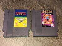 Kings of the Beach & Super Spike V'Ball / World Cup Soccer Game Lot Nintendo Nes