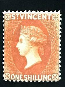 St Vincent. Stamp QV 1/- MH no idea what colour